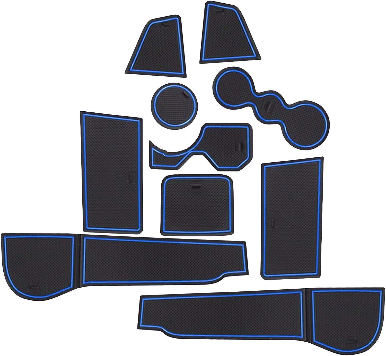 Cdefg Für Golf 8 Viii Gummimatten Auto Gti Gtd Gte Innere Türschlitz Rutschfest Anti Staub Becherhalter Matten Armrest Box Aufbewahrung Pads Zubehör Blau Auto
