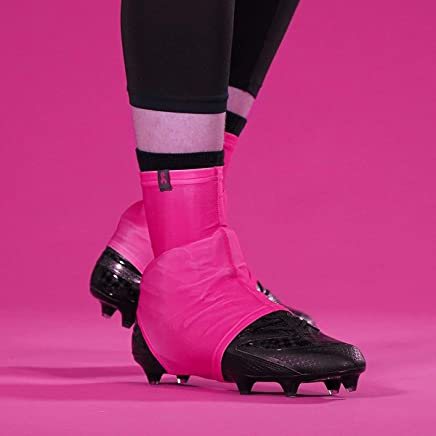 8c581fb1dff SLEEFS BCA Pink Ribbon Hot Pink Spats Cleat Covers