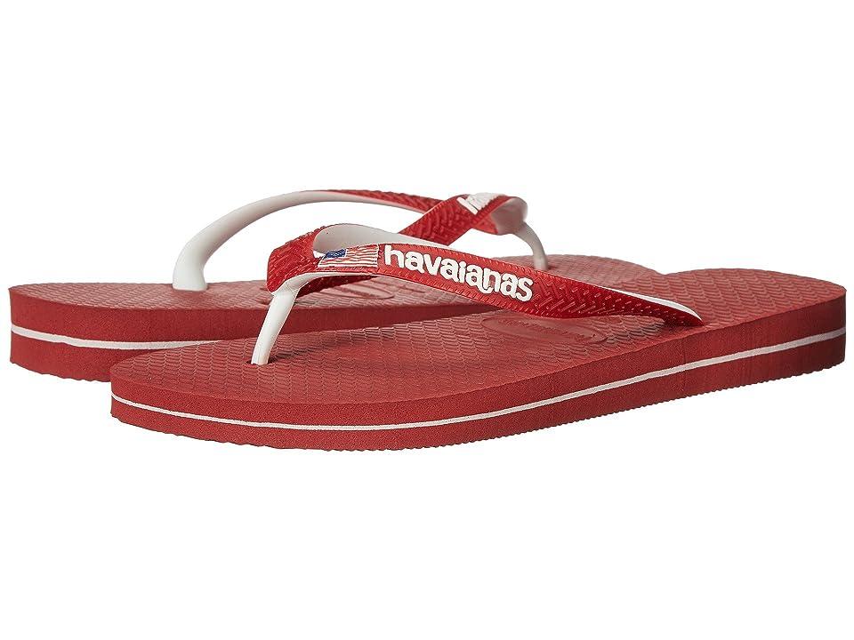 Havaianas USA Logo Sandal (Red) Women