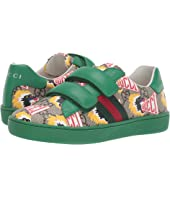 Gucci Kids - GG Supreme Double Strap Sneaker (Little Kid)