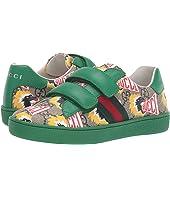Gucci Kids - GG Supreme Double Strap Sneaker (Little Kid)