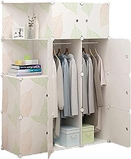 Garde-robe XINYALAMP Armoire de Placard pour Suspendre Les vêtements Combinaison de résine Meuble de Rangement modulaire a...