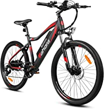 Eahora XC100 26 inch Electric Mountain Bicycle 7 Speed E-Bike 48V 10.4Ah Lithium Battery 350W Electric Bike Max 80 Miles A...