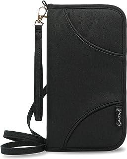 GetWing パスポートケース スキミング防止 首下げ セキュリティポーチ パスポートカバー 薄型 12ポケット