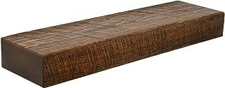Rustic Floating Mountable Wood Shelf, Antique, Pine, 24