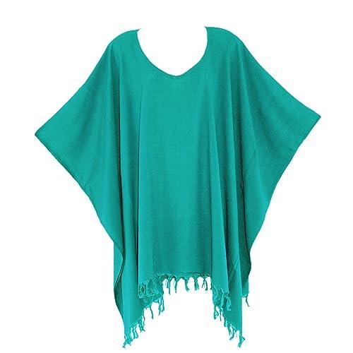8b0b5792527 Beautybatik Boho Solid Tunic Blouse Kaftan Caftan Top SZ XL To 4X