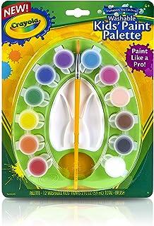 クレヨラ お絵かき 水でおとせるキッズ絵の具 12色 ミニパレットセット ブラシ付き 541062 正規品