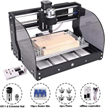 MYSWEETY CNC 3018PRO-M Mini CNC Machine, with Offline Controller GRBL Control DIY Engraving CNC Router, 3 Axis Pcb Milling Machine, Wood Router Engraver, with ER11 and 5mm Extension Rod