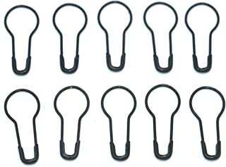 1000Pcs Metal Black safety Pins/Gourd Pin/Bulb Pin For Clothing Crafting and DIY,Black