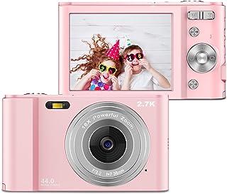 ZORNIK 2.7K Digitalkamera,Kamera Digital 2,88-Zoll-LCD-Akku HD 44 Megapixel 16-facher Digitalzoom, Studenten für Erwachsene/Senioren/Kinder (pink)