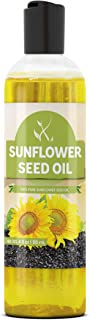Sunflower Seed Oil (4 oz) by Pure Ingredients, Vegan, Non-GMO, Therapeutic Grade, Paraben Free, Silicone & Sulfate Free, B...