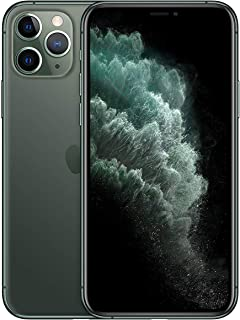 Apple MWDD2ZA/A iPhone 11 Pro With facetime Physical Dual SIM 4G, LTE, International Version-Midnight Green, 64 GB