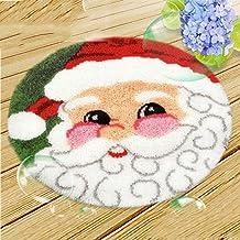 Borduurwerk Knooptapijt Kits Kerst For Adults DIY Tapestry Carpet Rug maken Kussen Kussen Knooptapijten Borduurpakket Kers...