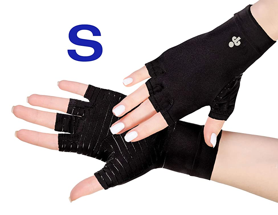 iPerson? Arthritis Gloves Copper Infused Compression Guaranteed to Speed Up Recovery Relieve Symptoms of Arthritis RSI Carpal Tunnel Tendonitis for Men & Women - 1 Pair (Small)
