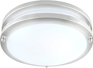 LB72171 LED Flush Mount Ceiling Light| 10-Inch Modern, Dimmable, Round Light Fixture| Antique Brushed Nickel Finish| 5000K Daylight, 17W, 1350 Lumens| ETL & DLC Listed, Energy Star| Indoors, Hallway,