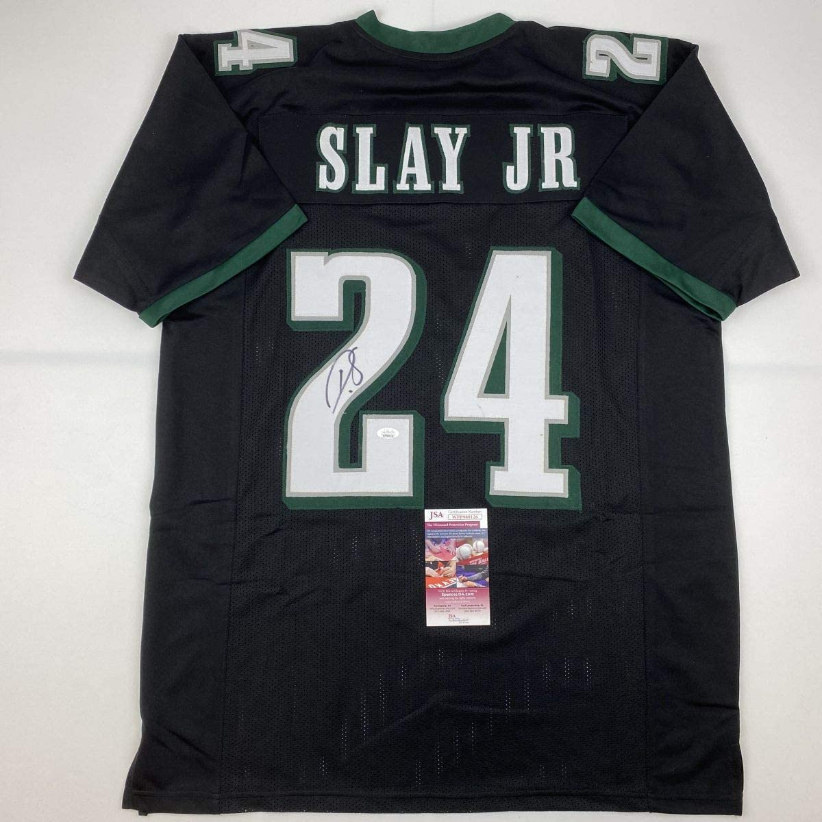 Autographed Signed Darius Slay Jr. J Philadelphia Black Football Las Vegas sold out Mall