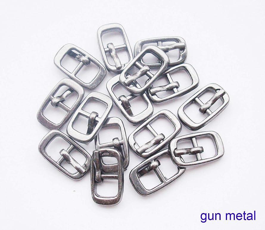 Inner Diameter 6mm DIY Mini bjd Dolls Shoes Buckle Metal Button Three Lines Doll DIY Clothes Buckle pin Buckle Mini Bag Buckle 20 pcs/lot (Gun Metal)