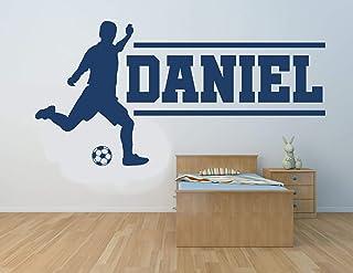 Nombre personalizado, futbolista, vinilo decorativo de pared, mural, calcomanía. Hogar, decoración de la pared. Dormitorio...
