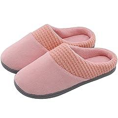 69f17a2537d94 Women's Comfort Coral Fleece Memory Foam Slippers Fuzzy Plush .