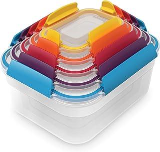 Joseph Joseph - Nest Lock - Boîtes de Conservation Compactes Plastique - Lot de 5 - Multicolores