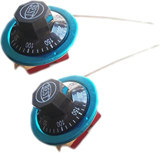 Rannb Rotary Switch Temperature Controller Capillary Thermostat 50-300 Celsius 2 Pack (50-300C)