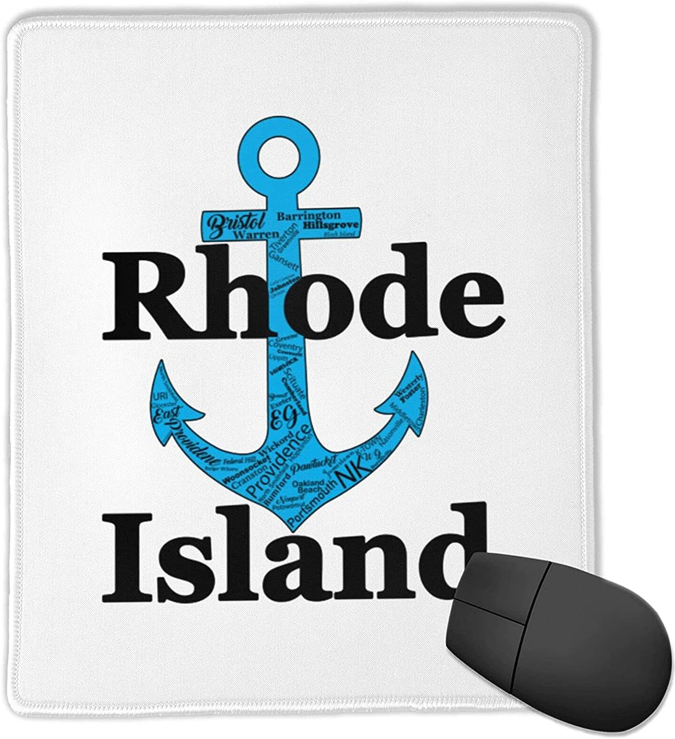 Max 51% OFF Rhode Island - Ocean State 25x30 Mouse wit Vertical Chicago Mall Pad Rubber