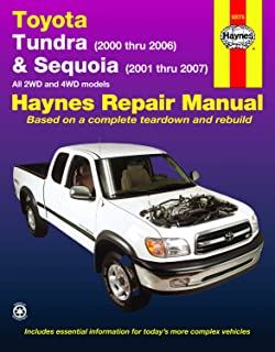 Toyota Tundra (00-06) & Sequoia (01-07) 2WD & 4WD Haynes Repair Manual