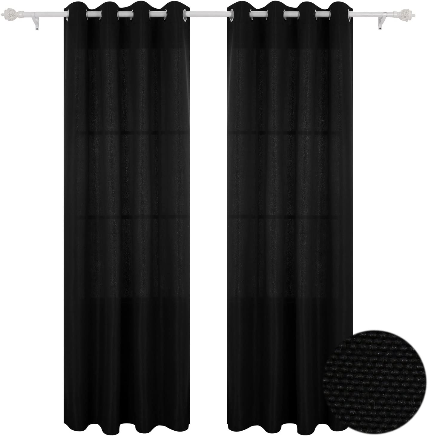 Deconovo Darkening Grommet lowest price New popularity Faux Linen Curtains Darpes f Blackout