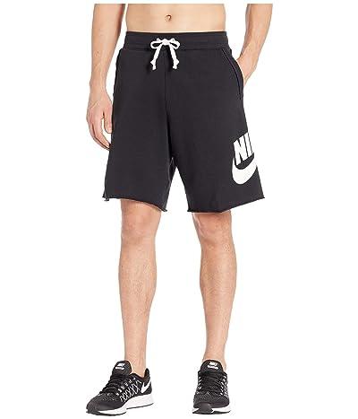 Nike NSW FT Alumni Shorts (Black/Black/White/White) Men