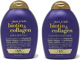 OGX Thick & Full Biotin & Collagen Shampoo & Conditioner Combo   With Vitamin B7 Biotin, Collagen & Hydrolyzed Wheat Prote...
