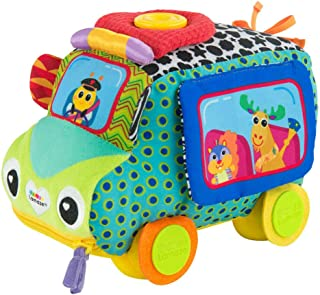 LAMAZE Freddie's Activity Bus Baby Toy, Plush Sensory Toy with Flaps & Discovery Mirror for Sensory Play | New Baby Gifts ...