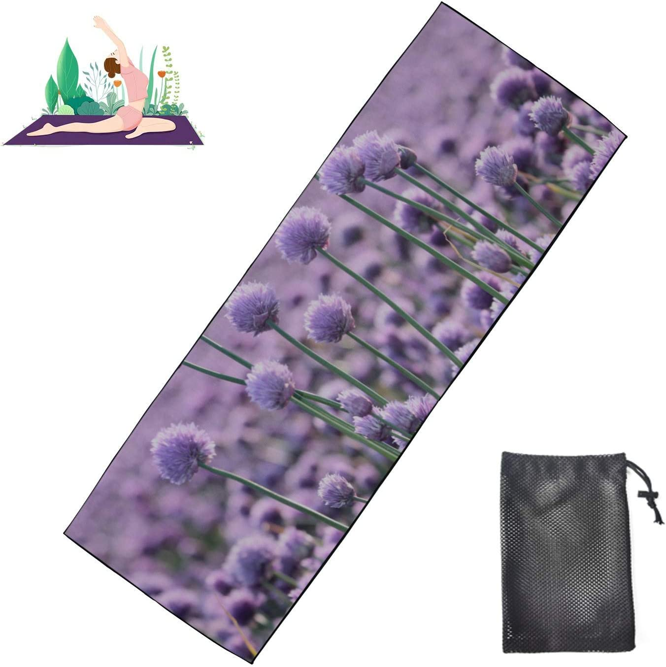 Huqalh Hot Yoga Towels Giant Onion Blooming Flower Floor Ma Cheap mail order Max 84% OFF sales
