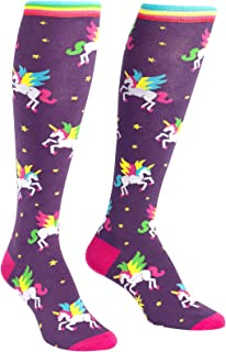 Sock It To Me, Knee High Funky Socks: Magical Unicorns