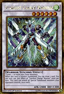 Yu-Gi-Oh! - Stardust Charge Warrior (PGL3-EN005) - Premium Gold: Infinite Gold - 1st Edition - Gold Secret Rare