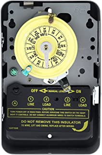 Intermatic T104 Electromechanical Timer, 208-277 V, 40 A, 1-23 Hr, 1-12 Cycles Per Day