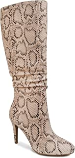 Sugar Womens Stealth Dress Boot with Heel and Woven Wraparound Ornament 6 Snake