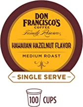 Don Francisco's Hawaiian Hazelnut Flavored (100 Pods) Single Cup Coffee Pods, Compatible with Keurig K-Cup Machines