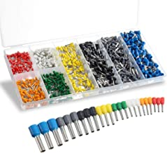 Wire Ferrules, Sopoby Insulated Ferrule Crimp Pin Terminal Kit for Electrical Projects, AWG 24-10, 8 Sizes