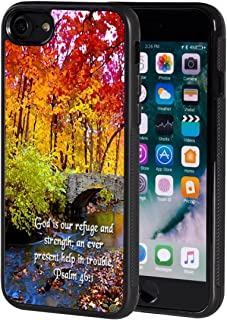 iPhone 7 Case,AIRWEE Slim Anti-Scratch Shockproof Silicone TPU Back Protective Cover Case for iPhone 7 4.7 Inch,Bible Verses Psalm 46:1