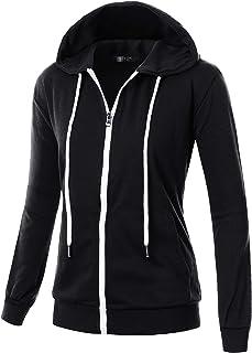 GIVON Womens Comfortable Long Sleeve Lightweight Hoodie with Kanga Pocket c63268ff9