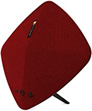 dodocool Speakers, Wireless Portable Rechargeable with Built-in Microphone Hi-Resolution Stereo Maximum 7-Hour Playtime Support TF Card and USB Disk Reader Black (Red)