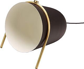 Homemania Lámpara de pie Belle, pie Negro, Oro de Hierro, latón, 28 x 30 x 31 cm, 1 x E14, 25 W
