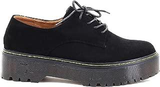 Zapatos Casual Mujer con Cordones y Plataforma Punta Redonda Hipster