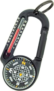 Sun Company TempaComp - Ball Compass and Thermometer Carabiner | Hiking, Backpacking, and Camping Accessory | Clip On to P...