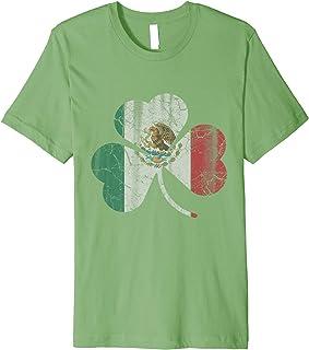 Mexico Flag Shamrock Irish St Patricks Day Mexican Latino