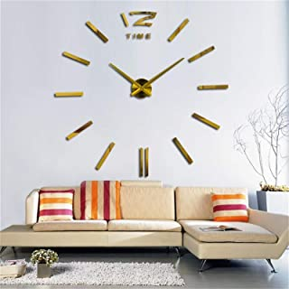 3D creative living room bedroom sofa background Large Home Wall Clock 3D DIY Clock Acrylic Mirror Stickers Home Decoration...