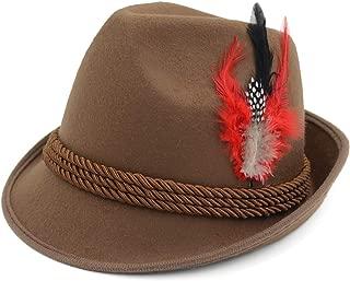 Melesh Elegant German Alpine Bavarian Oktoberfest Costume Hat