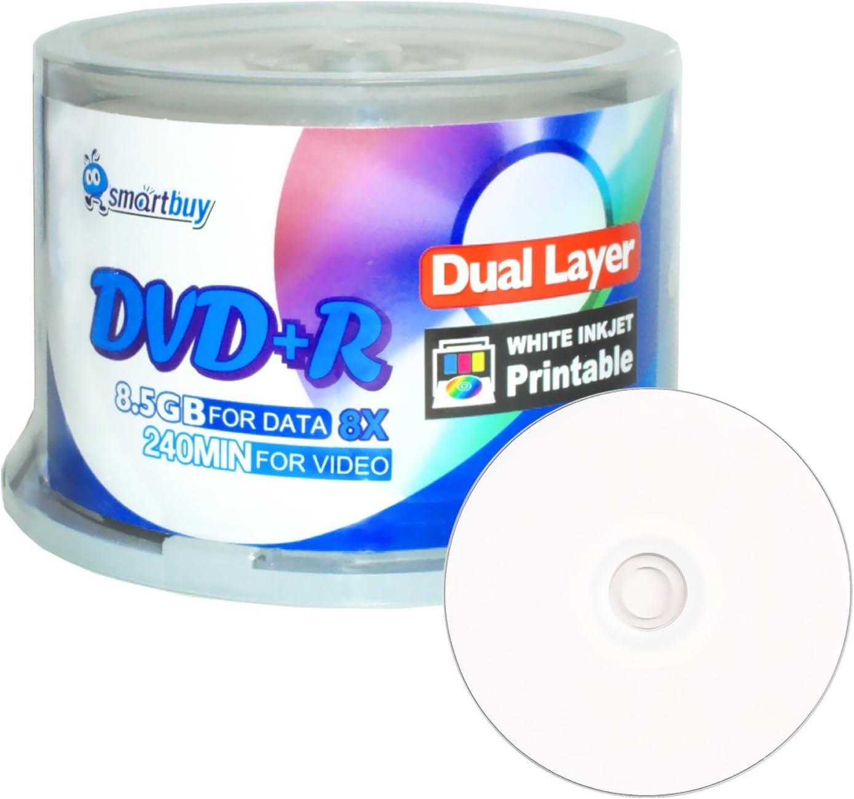 Smartbuy 50-disc 8.5gb 240min 8X DVD+r Wholesale Dl Ranking TOP15 Dual Laye Double Layer