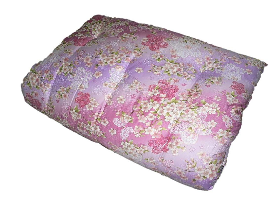廃棄する異なる定刻エブリ寝具ファクトリーブランド 讃岐ふとん シングル おまかせ柄込み 綿サテン生地使用 混綿入り 綿わた 敷き布団 ピンク