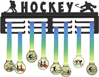 GENOVESE Medal Display Rack for Ice Hockey,Winter Sports Medals Hanger,Trophy Matte Black Metal Holder,Awards Hangers